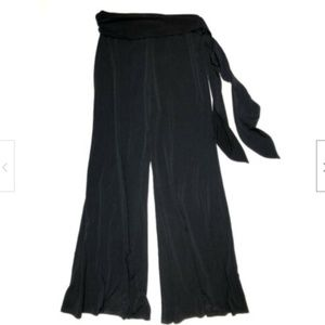 Harlow Small Black Wide Leg Pants Pull On Stretch